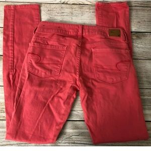 American Eagle 2 Skinny Stretch Coral Jeans Pants